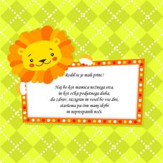 Verzi ob rojstvu sina - Mali princ