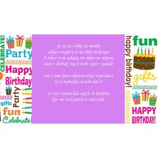 Verzi za rojstni dan – Vlak življenja