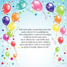 Voščila za rojstni dan – Čestitka