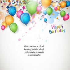 Voščila za rojstni dan – Zbrana družba