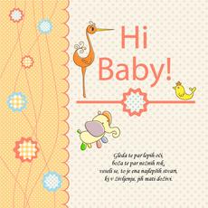 Voščilo ob rojstvu - Par lepih oči