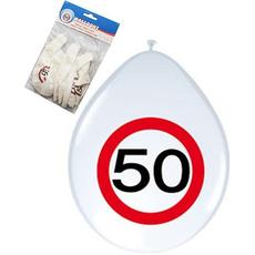 """Baloni iz lateksa 12"""",prometni znak 50, 8 kom."""