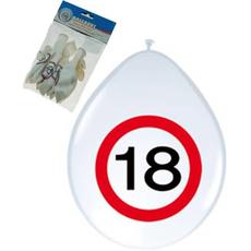 """Baloni Iz Lateksa 12"""" Prometni Znak 18 Let"""