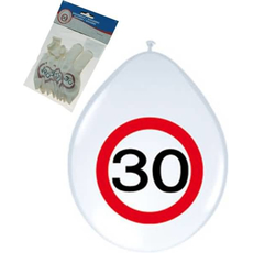 """Baloni Iz Lateksa 12"""" Prometni Znak 30 Let"""