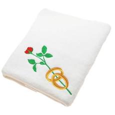 Brisača Poročna Roža In Dva Prstana