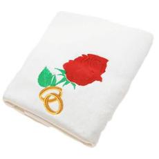 Brisača Poročna Vrtnica In Dva Prstana