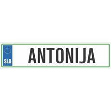 Registrska tablica - ANTONIJA, 47x11cm