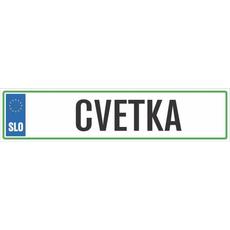Registrska tablica - CVETKA, 47x11cm