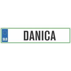 Registrska tablica - DANICA, 47x11cm