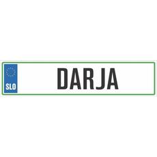 Registrska tablica - DARJA, 47x11cm