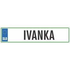 Registrska tablica - IVANKA, 47x11cm