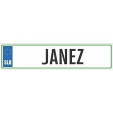 Registrska tablica - JANEZ, 47x11cm