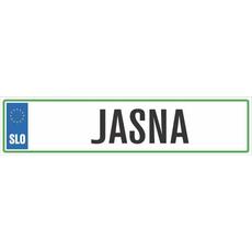 Registrska tablica - JASNA, 47x11cm
