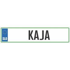 Registrska tablica - KAJA, 47x11cm
