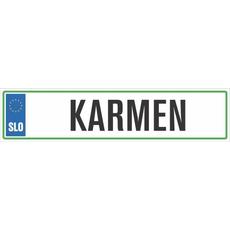 Registrska tablica - KARMEN, 47x11cm