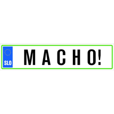 Registrska tablica - Macho!, 47x11cm