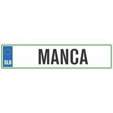 Registrska tablica - MANCA, 47x11cm