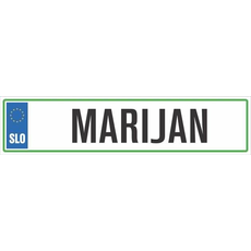 Registrska tablica - MARIJAN, 47x11cm
