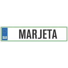 Registrska tablica - MARJETA, 47x11cm