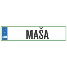 Registrska tablica - MAŠA, 47x11cm