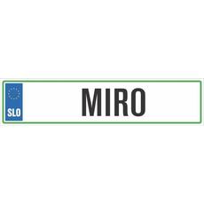 Registrska tablica - MIRO, 47x11cm