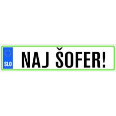 Darila Registrska Tablica Naj Šofer!