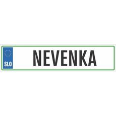 Registrska tablica - NEVENKA, 47x11cm