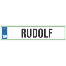 Registrska tablica - RUDOLF, 47x11cm