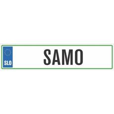 Registrska tablica - SAMO, 47x11cm