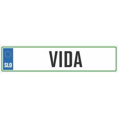 Registrska tablica - VIDA, 47x11cm