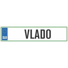 Registrska tablica - VLADO, 47x11cm