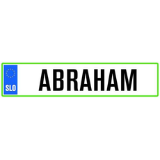 Darilo Registrska Tablica Abraham