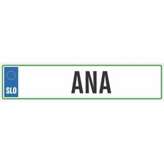 Registrska tablica - ANA, 47x11cm