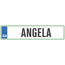 Registrska tablica - ANGELA, 47x11cm