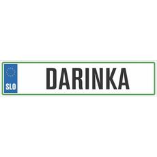 Registrska tablica - DARINKA, 47x11cm