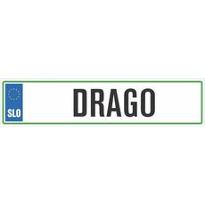 Registrska tablica - DRAGO, 47x11cm
