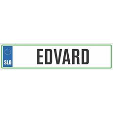 Registrska tablica - EDVARD, 47x11cm