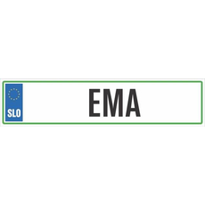 Registrska tablica - EMA, 47x11cm