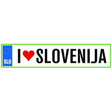 Darilo Registrska Tablica I Love Slovenija