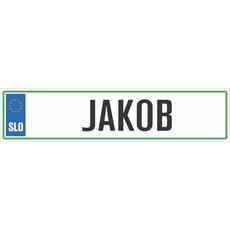 Registrska tablica - JAKOB, 47x11cm