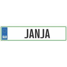 Registrska tablica - JANJA, 47x11cm