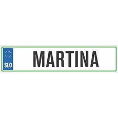 Darilo Registrska Tablica Martina
