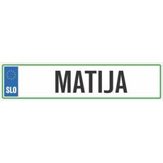 Registrska tablica - MATIJA, 47x11cm