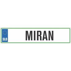 Registrska tablica - MIRAN, 47x11cm