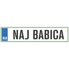 Registrska tablica - NAJ BABICA, 47x11cm