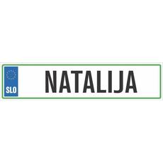 Registrska tablica - NATALIJA, 47x11cm