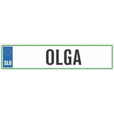 Registrska tablica - OLGA, 47x11cm