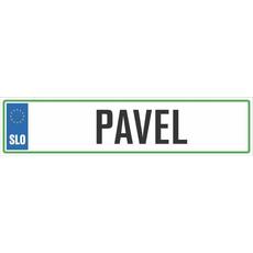 Registrska tablica - PAVEL, 47x11cm