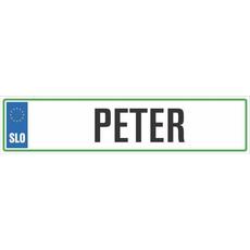 Registrska tablica - PETER, 47x11cm