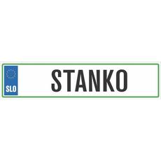 Registrska tablica - STANKO, 47x11cm